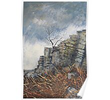 Rain Approaching Stanage Poster