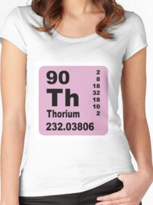 Thorium Periodic table of Elements Women's Fitted Scoop T-Shirt