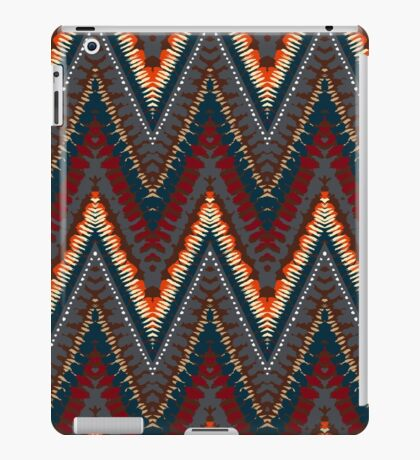 Bohemian print with chevron pattern in dark colors iPad Case/Skin