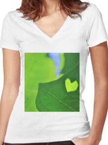 Natural Love - Heart of Life Women's Fitted V-Neck T-Shirt