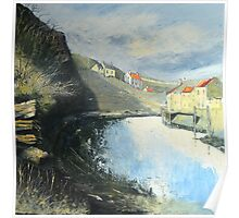 Tranquil Staithes Poster