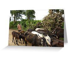 Farmer in India Greeting Card