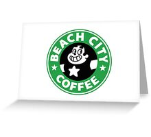 Beach city Coffee Greeting Card