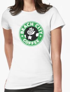 Beach city Coffee Womens Fitted T-Shirt