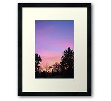 Sunset Over The Woods Framed Print
