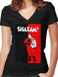 SHAZAM! Women's Fitted V-Neck T-Shirt