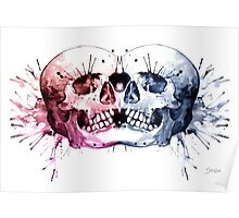 Conjoined Skull Poster