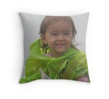 Airi Riding, Age Three Throw Pillow