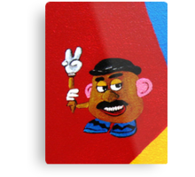 and the supporting cast..........Mr. Potato Head Metal Print