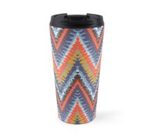 Bohemian print with chevron pattern in cool colors Travel Mug
