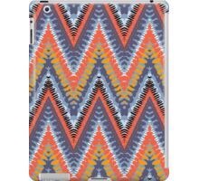 Bohemian print with chevron pattern in cool colors iPad Case/Skin
