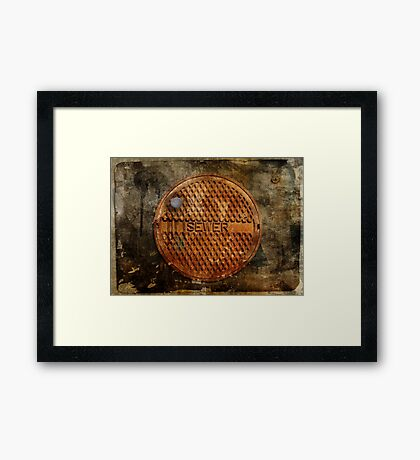 The Sewer On Sunday  Framed Print