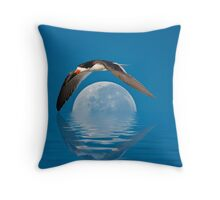 The Skimmer and The Moon Throw Pillow