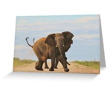 Elephant - Powerful Life Greeting Card