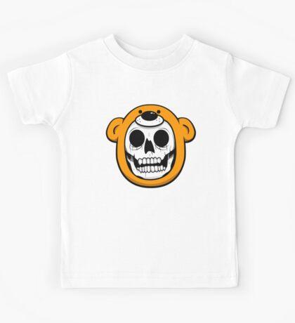alfredoMonster Skull Bear Hat Kids Tee