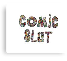 Comic Slut Canvas Print