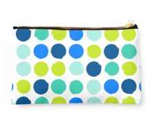 Print with randomly colored circles in bight blue green colors Studio Pouch