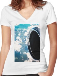 Tropical Skies Women's Fitted V-Neck T-Shirt
