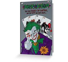 Joker's Asylum Greeting Card
