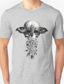 Metamorphosis Design on White, Red, Light Colors T-Shirt