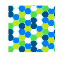 Bold geometric pattern with circles Art Print