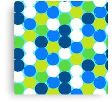 Bold geometric pattern with circles Canvas Print