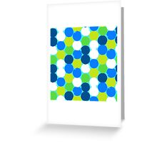 Bold geometric pattern with circles Greeting Card