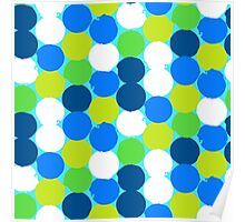 Bold geometric pattern with circles Poster