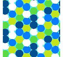 Bold geometric pattern with circles Photographic Print