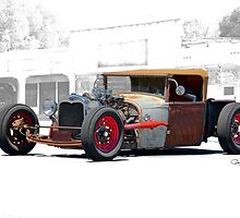 1930 Ford Roadster Pickup 'Red Hot Rat' by DaveKoontz