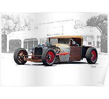 1930 Ford Roadster Pickup 'Red Hot Rat' Poster