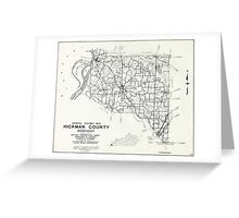 Hickman County, Kentucky Map Greeting Card