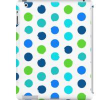 Polka dot print in blue green colors iPad Case/Skin