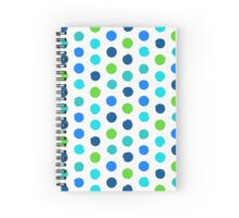 Polka dot print in blue green colors Spiral Notebook
