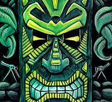 Canotiki-Tiki Painting 3 by rawjawbone
