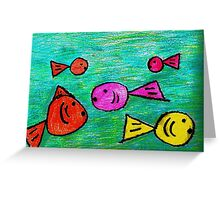 Tank of fish Greeting Card