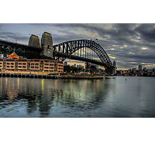 Underneath The Arches - Sydney Harbour Bridge - The HDR Experience Photographic Print