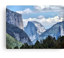 Valley View of El Capitan and Half Dome Canvas Print