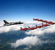 Flying with XH558 and The Reds by J Biggadike