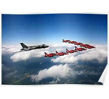 Flying with XH558 and The Reds Poster
