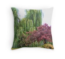 Summer's Swan Song Throw Pillow