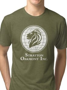 The Wolf of Wall Street Stratton Oakmont Inc. Scorsese (in white) Tri-blend T-Shirt