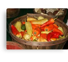 Pick Your Peppers! Canvas Print