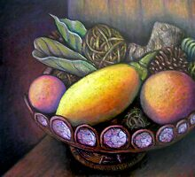 Fruit Bowl Still Life by iartistbynature