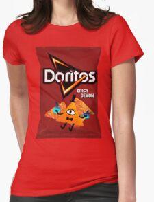 Bill Cipher Demon Doritos Womens Fitted T-Shirt