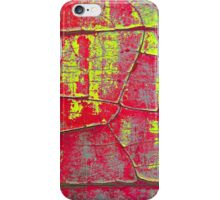 Abstract Art - Textures of Old Color in Red and Yellow iPhone Case/Skin