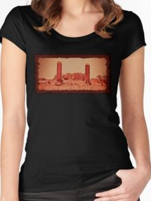 """""""Cousin Cooter's Country Version of  J. R. R. Tolkien's, 'The Lords of the Ring: The Two Towers'""""... prints and products Women's Fitted Scoop T-Shirt"""