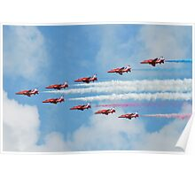 Red Arrows in flight Poster