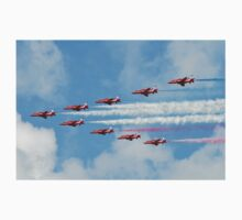 Red Arrows in flight One Piece - Short Sleeve