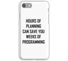 Plan your programming 2.0 iPhone Case/Skin
